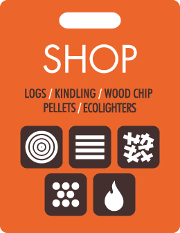 Shop online for Logs, Kindling, Woodchip, Pellets, Heat Logs, Ecolighters